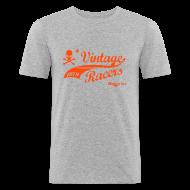Tee shirts ~ Tee shirt près du corps Homme ~ Motorcycles T-Shirt Orange