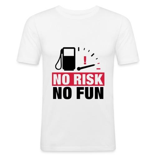 No Risk No Fun - T Shirt weiß - Männer Slim Fit T-Shirt