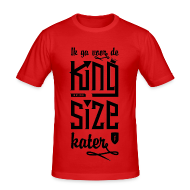 T-shirts ~ slim fit T-shirt ~ King size Kater