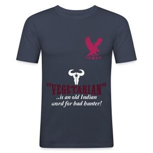 Hollow vains vegetarian t-shirt - Men's Slim Fit T-Shirt