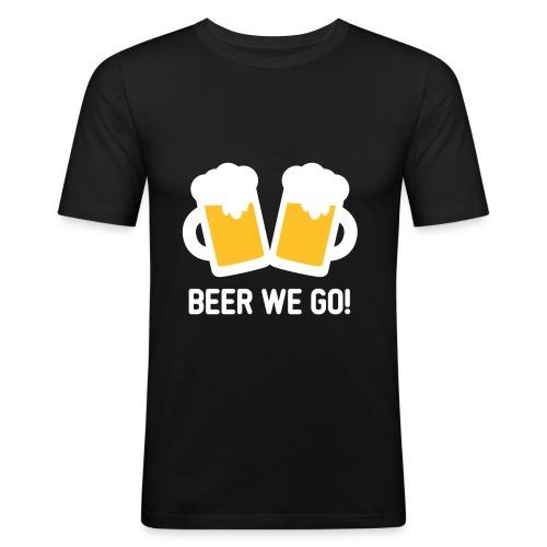 Beer we go T Shirt - schwarz - Männer Slim Fit T-Shirt