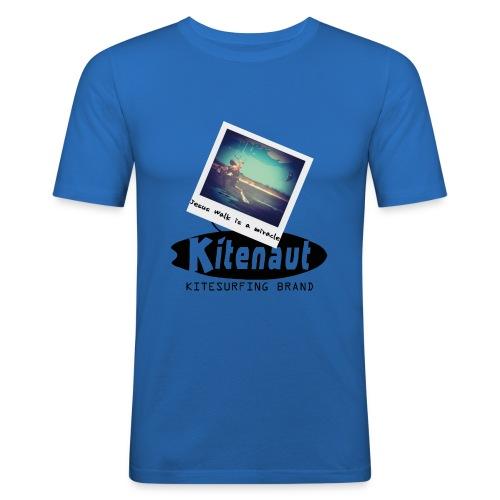 T shirt Jesus Walk - T-shirt près du corps Homme