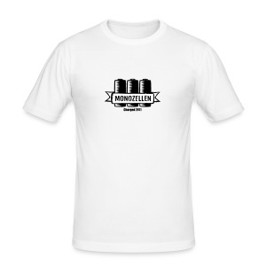 Monozellen Men's T-Shirt, Weiß - Männer Slim Fit T-Shirt