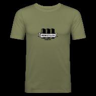 T-Shirts ~ Männer Slim Fit T-Shirt ~ Monozellen Men's T-Shirt, Olive