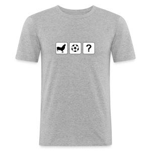 Logo T-Shirt Grey - Men's Slim Fit T-Shirt