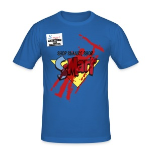 S-Mart - blood splatter (inspired by Evil Dead: Army of Darkness) - Men's Slim Fit T-Shirt