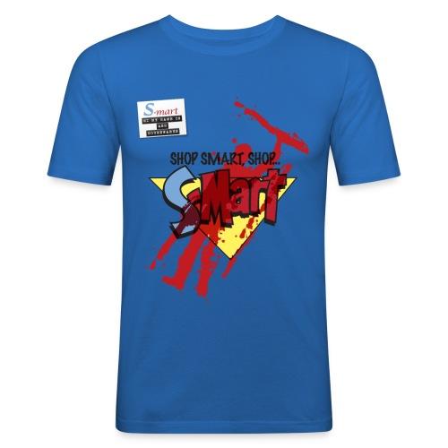 S-Mart - blood splatter (inspired by Evil Dead: Army of Darkness) - Men's Slim Fit T-Shirt