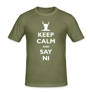 Keep Calm and Say Ni (inspired by Monty Python's Holy Grail) - Men's Slim Fit T-Shirt