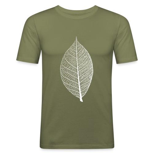 t-shirt blatt laub leaf leaves herbst skelett baum ast natur - Männer Slim Fit T-Shirt