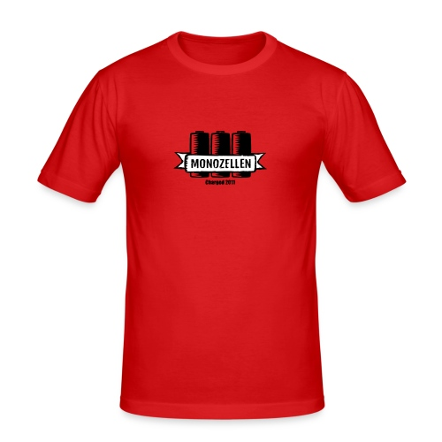 Monozellen Men's T-Shirt, Rot - Männer Slim Fit T-Shirt