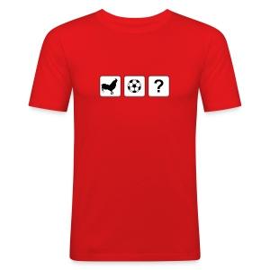 Logo T-Shirt Red - Men's Slim Fit T-Shirt