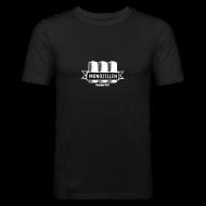 T-Shirts ~ Männer Slim Fit T-Shirt ~ Monozellen Men's T-Shirt, Schwarz