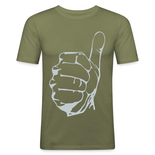daumen_hoch - Männer Slim Fit T-Shirt