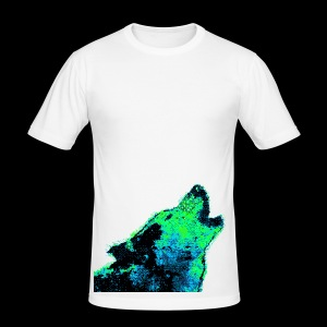Glitch Wolf - Men's Slim Fit T-Shirt