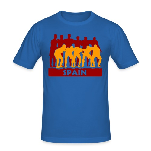 Slim Fit T-Shirt 'Spanien Team' - Männer Slim Fit T-Shirt