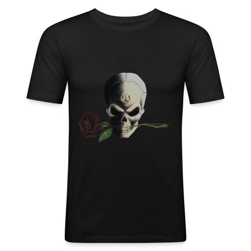 Skull & Rose - Men's Slim Fit T-Shirt