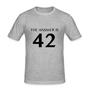 Answer is 42 Men's Slim Fit T-Shirt - Men's Slim Fit T-Shirt