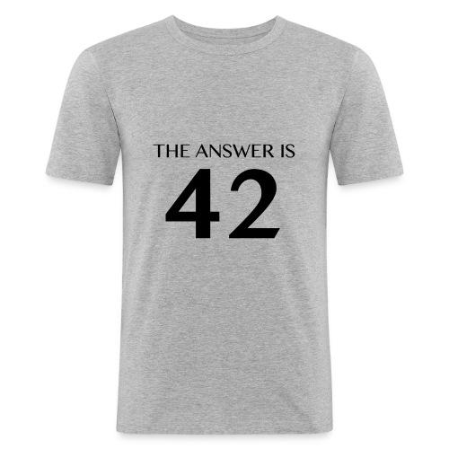 Answer is 42 Men's Slim Fit T-Shirt - Men's Slim Fit T-Shirt