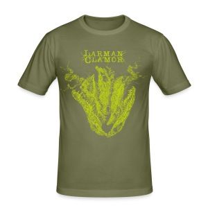 Larman Clamor Alligator Heart (olive) - Men's Slim Fit T-Shirt