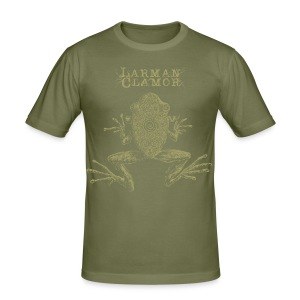 Larman Clamor Frogs (olive) - Men's Slim Fit T-Shirt