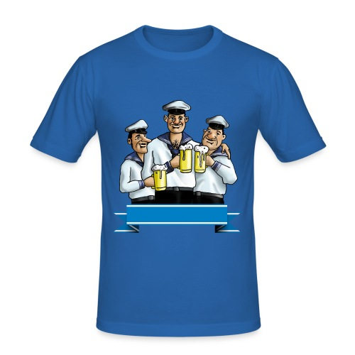 t-shirt marine - Maglietta aderente da uomo