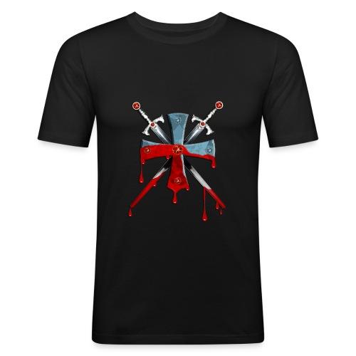 Ritterkreuz mit Schwertern - Männer Slim Fit T-Shirt