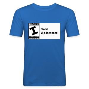Blood Violence ESRB - Men's Slim Fit T-Shirt