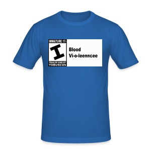 Blood Violence ESRB - Men's Slim Fit T-Shirt