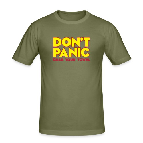 Don't Panic - Männer Slim Fit T-Shirt