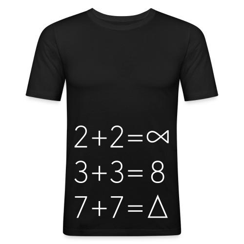 Hipstah-Maths.Jill-Hard - Männer Slim Fit T-Shirt