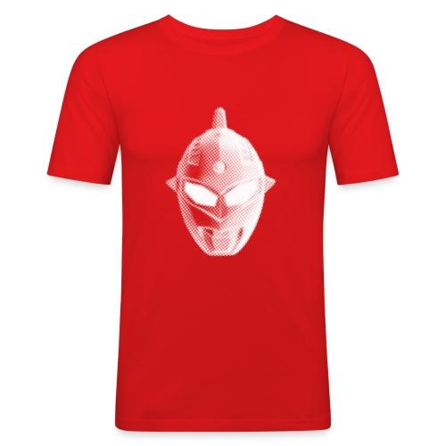 Tokusatsu - Homme - Blanc sur rouge - Men's Slim Fit T-Shirt
