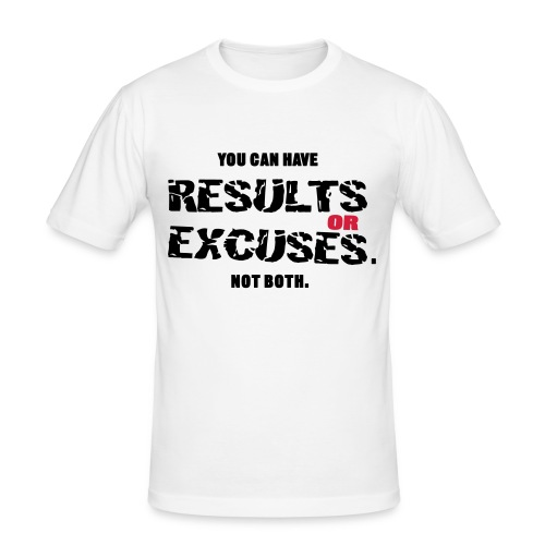 Results or Excuses white - Slim Fit T-shirt herr