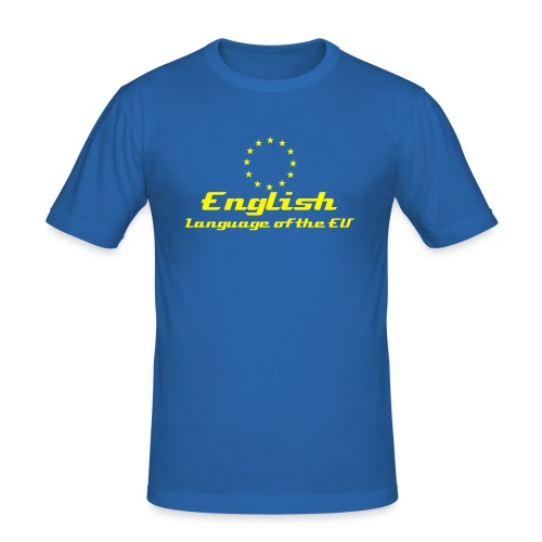 English - Language of the EU - blue (m) - Men's Slim Fit T-Shirt