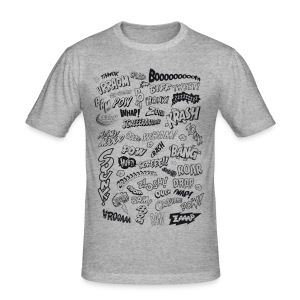 Comic Book Action Words - Tee shirt près du corps Homme
