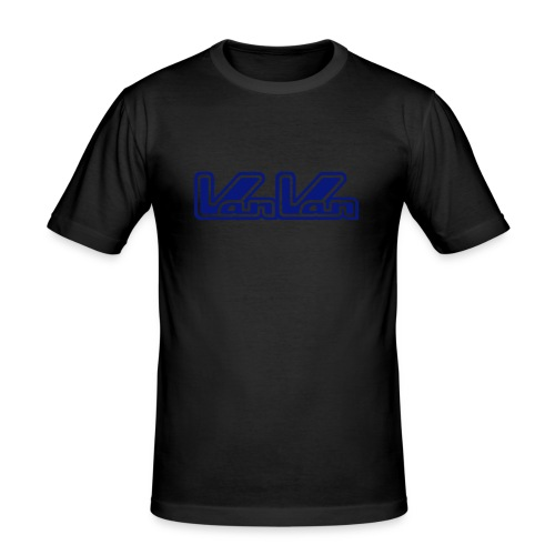 VanVan Blue Logo - Men's Slim Fit T-Shirt