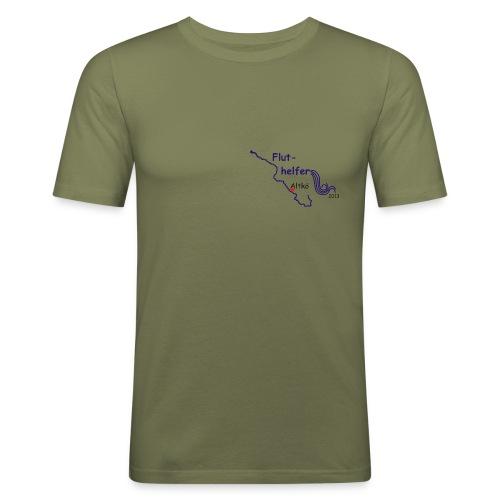 Fluthelfer_männl_oliv - Männer Slim Fit T-Shirt