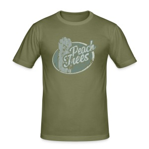 Peach Trees - inspired by Dredd - Men's Slim Fit T-Shirt