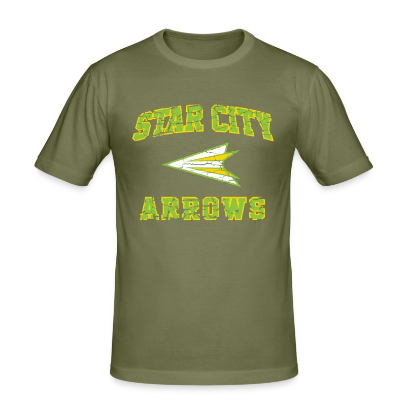 Star City Arrows - Inspired by Green Arrow - Men's Slim Fit T-Shirt