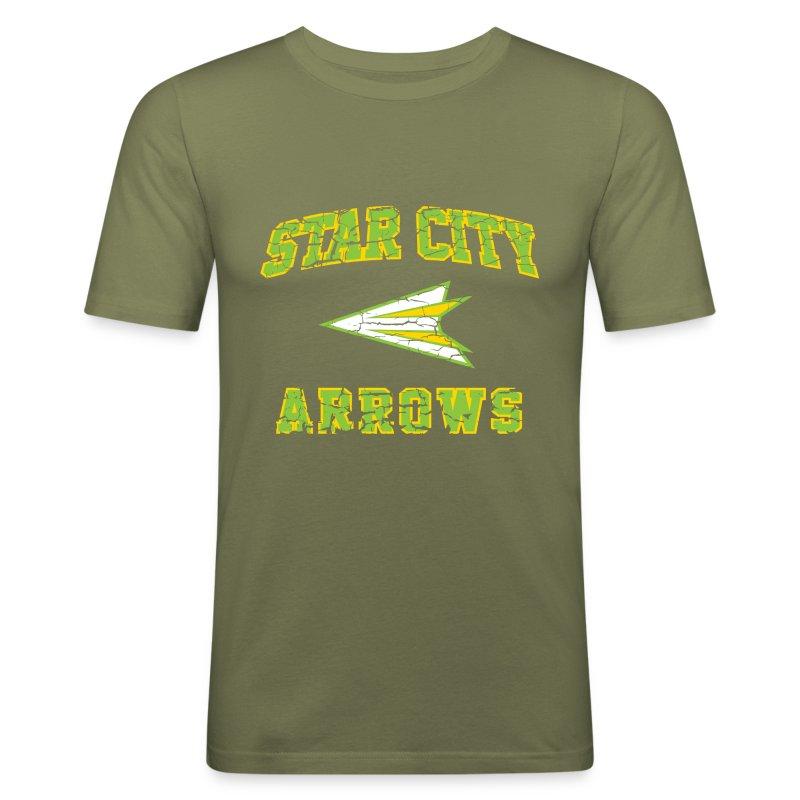 Star City Arrows - Inspired by Green Arrow - Men's Slim Fit T-Shirt