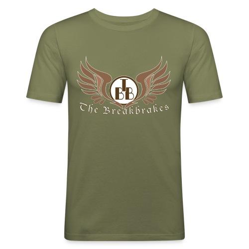 T-Shirt oliv extended Logo - Männer Slim Fit T-Shirt