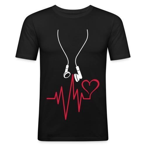 T-SHIRT homme music is life - T-shirt près du corps Homme