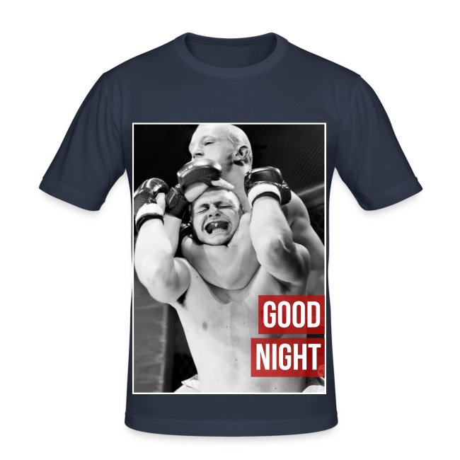 Mens MMA Fashion Hipster Tshirt - 'Goodnight Choke'