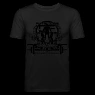 T-Shirts ~ Men's Slim Fit T-Shirt ~ Swole Crew Black SHIRT