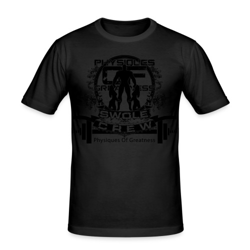 Swole Crew Black SHIRT - Men's Slim Fit T-Shirt
