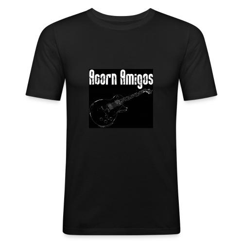 Acorn Amigos T-shirt svart - Slim Fit T-shirt herr