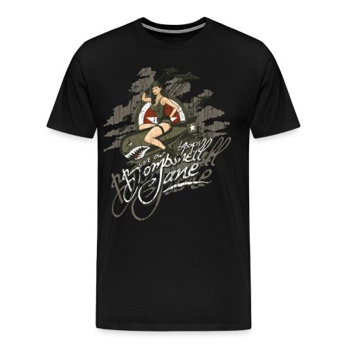 Bombshell Jane Pinup - Männer Premium T-Shirt