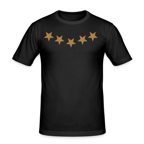 STARS BLACK - Men's Slim Fit T-Shirt