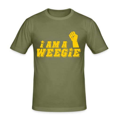 I AM A Weegie - Men's Slim Fit T-Shirt