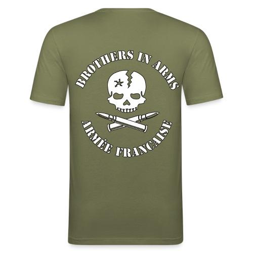 Skull et dos - T-shirt près du corps Homme
