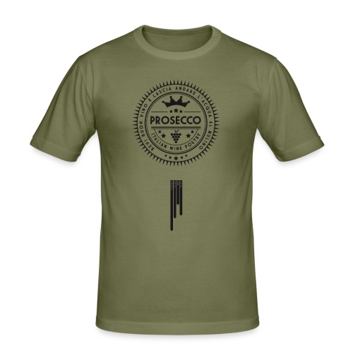 Italian Wine Poetry - PROSECCO - Men's Slim Fit T-Shirt